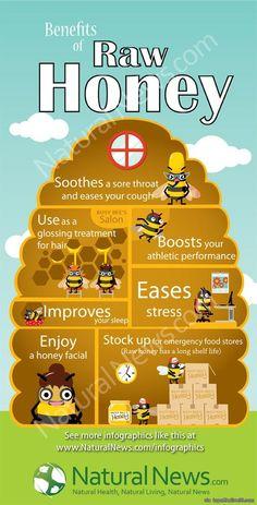 Benefits of Raw Honey via topoftheline99.com