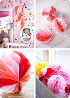 DIY Honeycomb paper ball - by Craft & Creativity