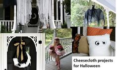 Easy to make Halloween Cheesecloth decorations and projects