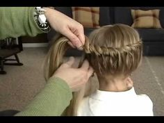 one pinner said: I do my little girls hair like this a lot. It is super simple and they always get compliments. This is a great tutorial of how to do it. Once you learn, you can do different variations.  Great videos!