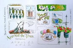 Artists' Journal Workshop: Fast Sketching and Building a Journal Page by Cathy Johnson