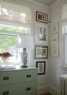 love the color of those campaign dressers so much -Fresh Mint by Benjamin Moore