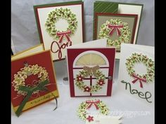 Stampin' Up! ,,, video tutorial on how to use the Wondrous Wreath stamp set with the framelits for easy match. More on my blog at www.frenchiestamps.com on 9-2-14 ... As always, great tips and beautiful cards from France Martin ...
