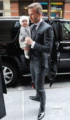David Beckam - Fashion Week New York Feb 2012