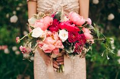 Peony bouquet | Photo by Christine Lim Photography | Read more - http://www.100layercake.com/blog/?p=73953