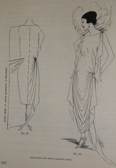 1920s Pattern making book. - Interesting pattern for a 20's dress