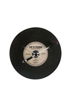 art decor, record clock, father day, record oldi, spin record