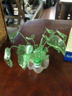 Sprite plastic bottle flower