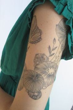 poppies and things #arm #tattoos