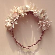 Linen floral crown