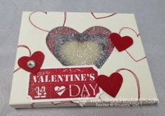 Stamp & Scrap with Frenchie: Heart Glitter Window Box with Envelope Punch Board