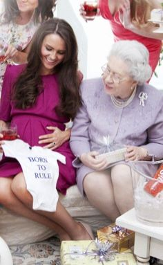 . queen elizabeth, duchess of cambridge, the duchess, baby george, the queen, royal babies, kate middleton, duchess kate, baby showers