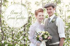 anne of green gables wedding inspiration----really an entire wedding themed around the books and movies.