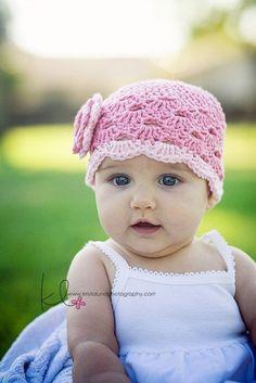 Crochet Baby Girl Hat Crochet Baby hat with Flower by LovelyKnits, $20.95