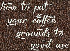 reuse coffee grinds