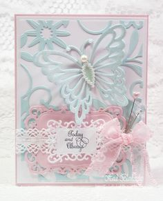 Embellished Dreams: Today and Always Card, Dec. 2012 - nice combination of Spellbinders dies and Just Rite stamps