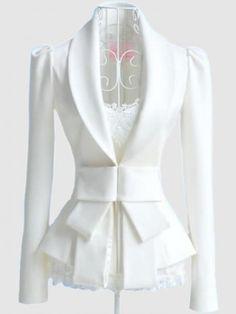 Jade Mackenzie Couture Ivory Bow Jacket