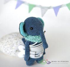 Little blue elephant earphone wrap pocket friend by WhoIsPisces