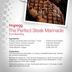 Want to learn how to whip up the perfect #steak marinade? Broil King is here to help with a recipe to get you started #FoodieFriday