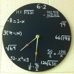 Great clock for a math room or someone that likes math :)