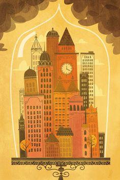 city under cloche
