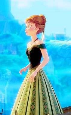 Anna from Frozen. WOW SHE LOOKS SOOO MUCH LIKE RAPUNZEL...