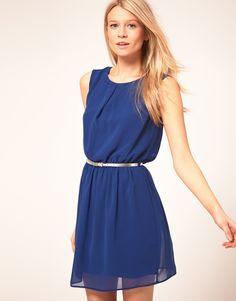 Skater Dress With Belt / ASOS  #dress