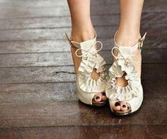 Beige, shoes