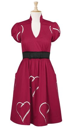So cute and perfect for Valentine's Day!!!  Embellished hearts valentine dress $59.95