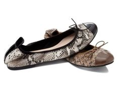 """Restricted """"Chestnut"""" Python Cap Toe Flat by"""
