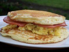 Breakfast pancake sandwich