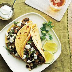 Mushroom, Corn, and Poblano Tacos | Health.com