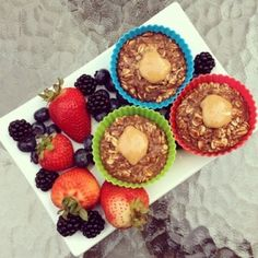Ripped Recipes - Chocolate Protein Baked Oatmeal Cups - A chocolatey protein-packed breakfast that's perfectly portable!