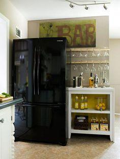 wine glass, glass storag, kitchen