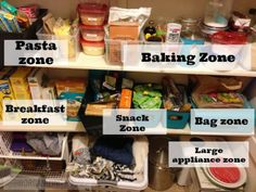After: Set up organizing zones for the pantry   OrganizingMadeFun.com