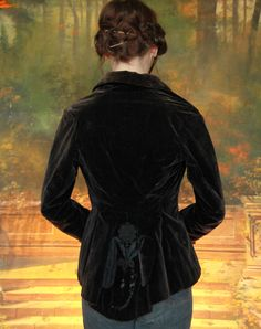victorian velvet and lace coat