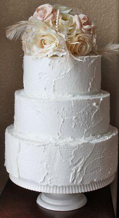 Romantic Creamy Ivory & Pink Champagne Wedding Cake Topper: Custom Order