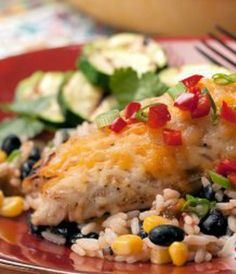 Easy Black Bean Chicken: A simple recipe your whole family will love! | via http://@SparkPeople #food #dinner #healthy