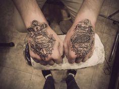 hand tattoo | Tumblr tattoo idea, hand tattoos, anchors, sailor theme, feet tattoos, hands, christian tattoos, anchor tattoos, tattoo ink