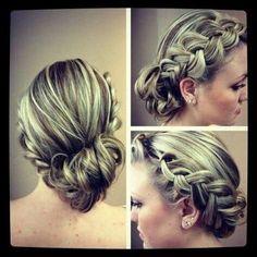 bridesmaid hair, hair beauty, prom hair, braids, morning coffee, wedding hairs, messy buns, hairstyl, braid hair styles