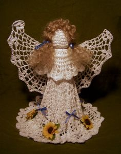 crochet angel, crochetangel, crochetchristma