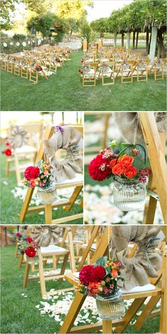 red aisle decor for your wedding