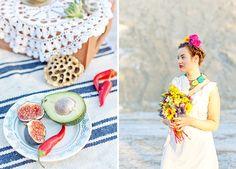 Mexican wedding in Siberia.Photo by Julia Volk Our first wedding anniversary #mexico #wedding #anniversary #Frida Kahlo