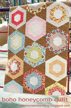 FREE PATTERN: Boho Honeycomb Quilt (from Moda Bake Shop)