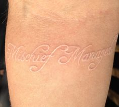 "White Tattoo, don't think it would do well with my skin tone but love the idea of having one on each wrist. ""I solemnly swear I am up to no good' and ""Mischief Managed"""