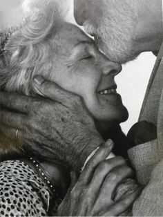 Forehead kisses and smiles... that's what great marriages are made of