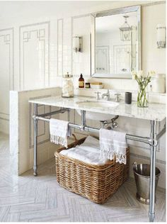 My bathroom inspiration image is classic glamor!  #fifthwallfriday #ceilume #ceiling #interior #design #diy #bathroom