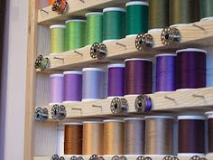 thread spools, sewing thread, sewing organization, sewing room organization, sew room, sewing storage, sewing rooms, storage ideas, craft rooms