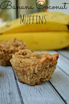 Banana Coconut Muffins - Yummy clean eating recipe using coconut flour for a wonderful flavor!  LuvaBargain.com