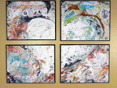 Wisdom Heart Set of 4 Art Panel made by Darla Kirchner Designs